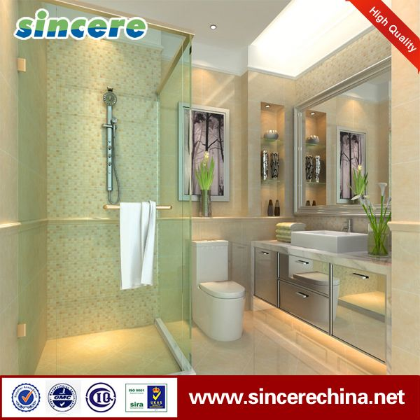 Kitchen and bathroom wood color ceramic floor and wall tile