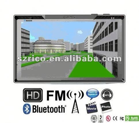 800*480 high brightness A+ screen high quality car gps navigation for kia k2
