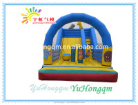 Wonderful inflatable jumping bouncer, commercial giant inflatable slide for amusement park