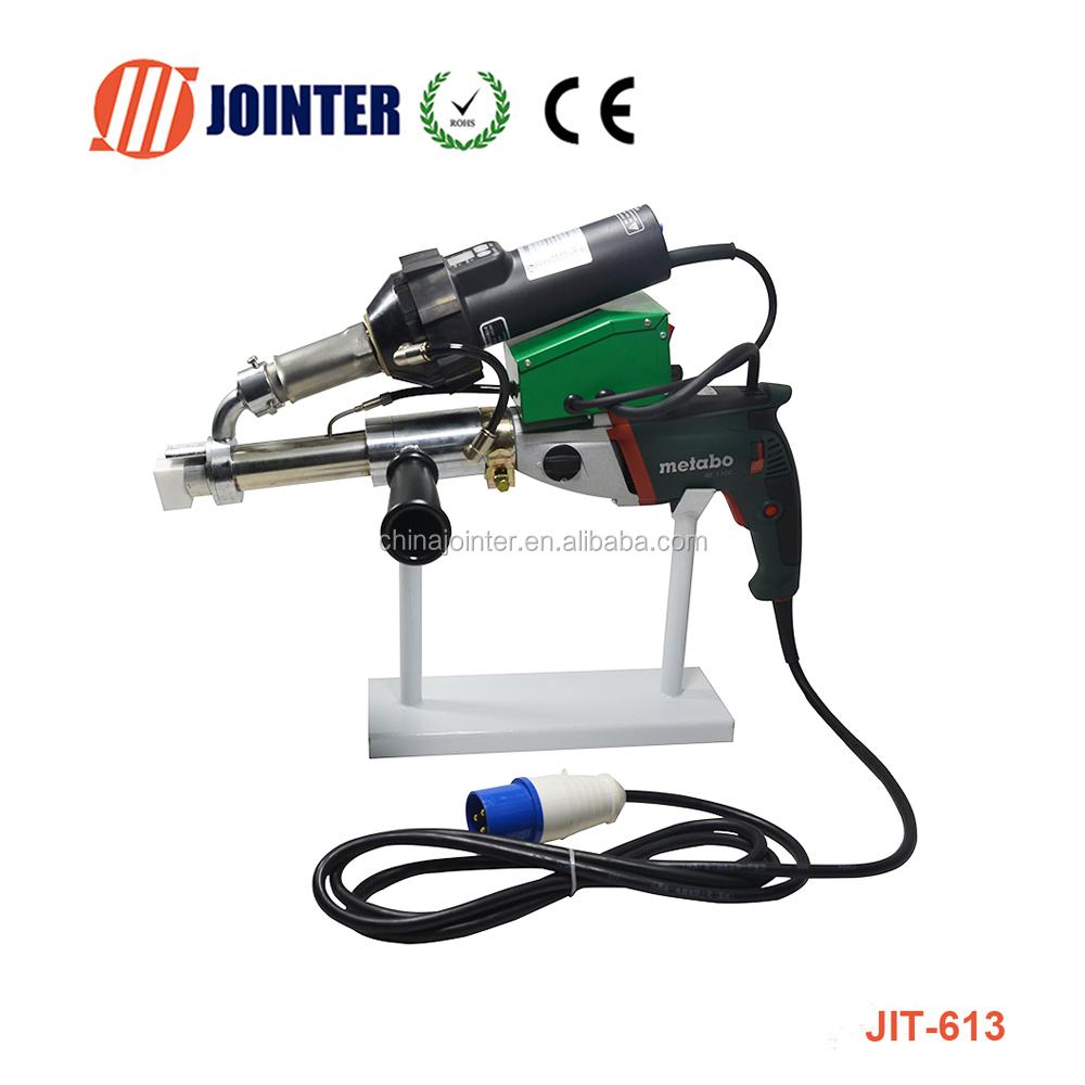 Mini Pvc Hdpe Plastic Extrusion Machine / Hand Extruder Welding Gun ...