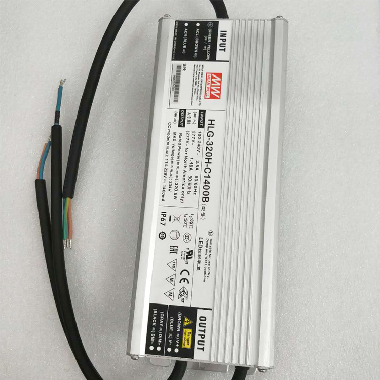 Low Price for Promotion ! 320W 1400mA Constant Current Mean Well LED <strong>Driver</strong> HLG-320H-C1400B
