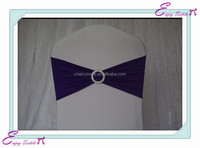 YHB#28 spandex lycra band buckle polyester banquet wedding wholesale cheap chair cover buckle band sash
