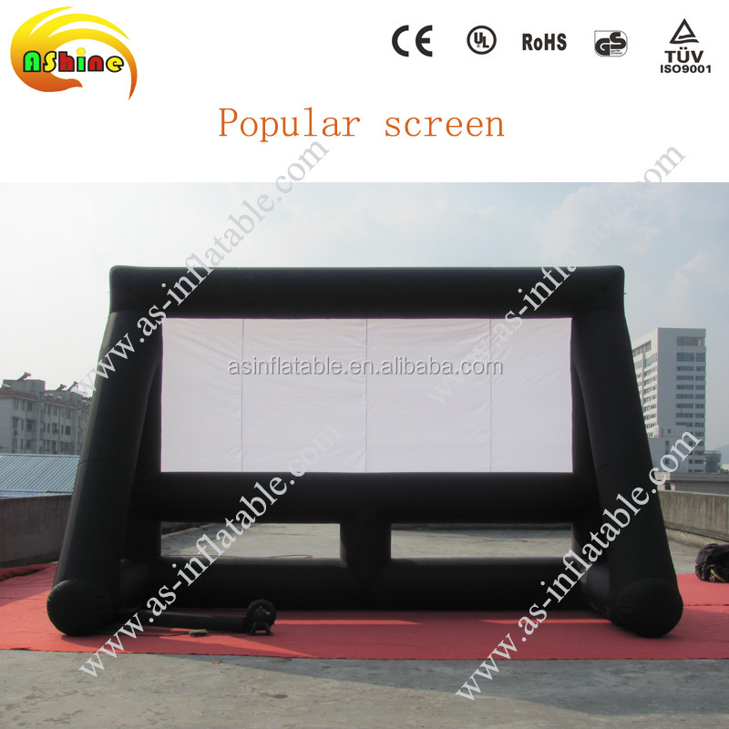 New design hot-selling outdoor inflatable advertising movie/projector screen