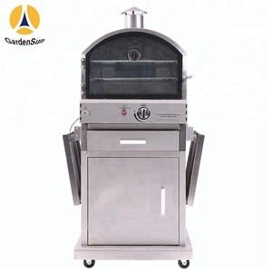 Power 16000BTU wood pellet pizza oven with CE certificate