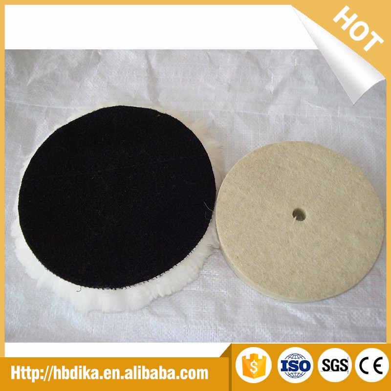 Chinese single sided car polishing hook wool buffing/polishing pad