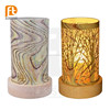 Wood base Advanced Glass candle holder with logo
