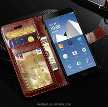 Polished, crazy horse stand case, leather flip wallet cover case for Samsung S8 Plus, para for LG Mobile Phone G2/G3