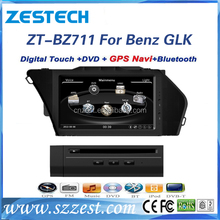 Newest factory price auto spares parts For Mercedes Benz GLK touch screen dvd player with radio gps bluetooth 3d map