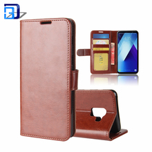 New Elegant PU Leather ID Gredit Card Slots Holder Wallet Flip Cover Stand Magnetic Closure Case For Samsung Galaxy A8 Plus 2018