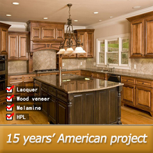 Export to North-American antique solid wood kitchen cabinet