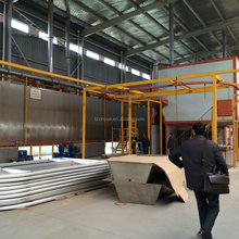 Supply powder spray paint doors line equipment for sale