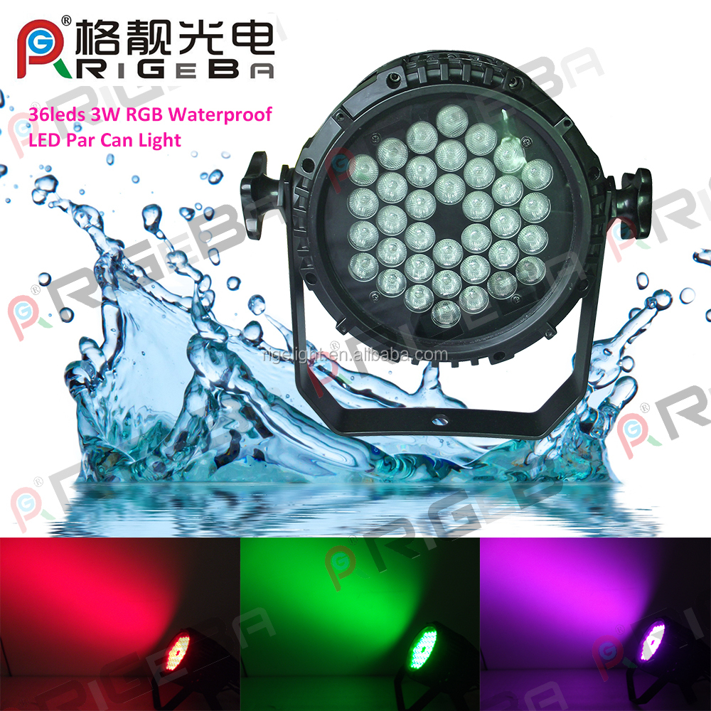 party lights stage light 36x3w rgbw 4-in-1 waterproof led par can light