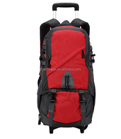 Hot sale trolley hiking backpack with pink color