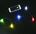 Multicolor led xmas lights With great price from china supplier,Dual tip charging cable with Xmas LED light