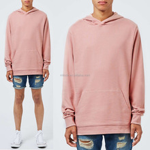 Custom Made in China Men's loose fit Plain Pink Fixed Hem Oversized Fit Hoodie Sweatshirts