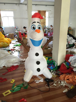 DHL free ship 5 foot Blow Up Christmas inflatable olaf snowman with santa hat