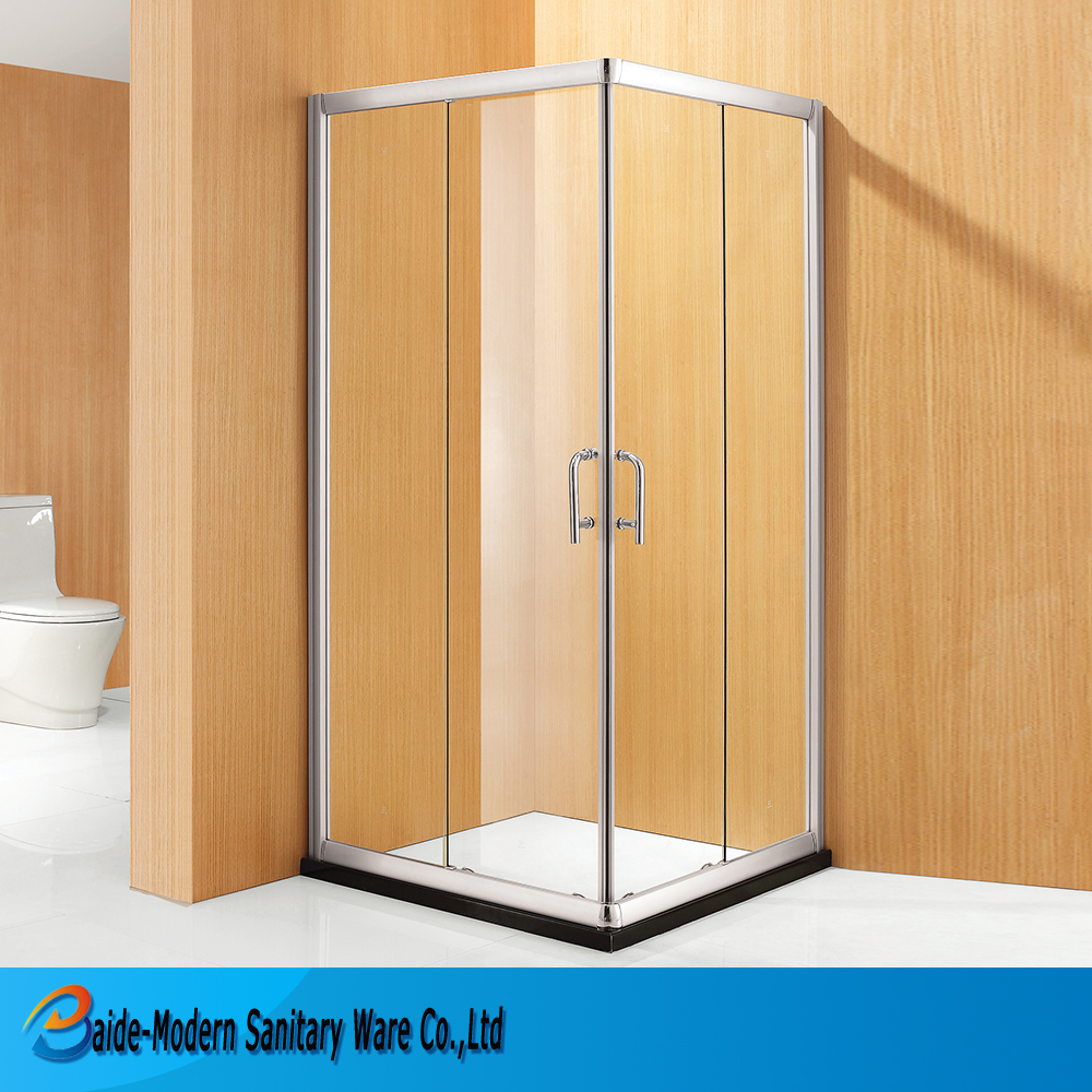 Design Boat Stall Glass Doors Continuous Hinge Door Aluminium Profile Corner Entry Shower Room