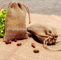 eco-friendly jute drawstring bag for wheat, rice and coffee beans packing
