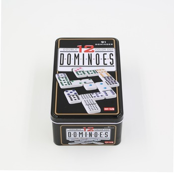 The most popular Double 12 Domino Games Sets in tin box