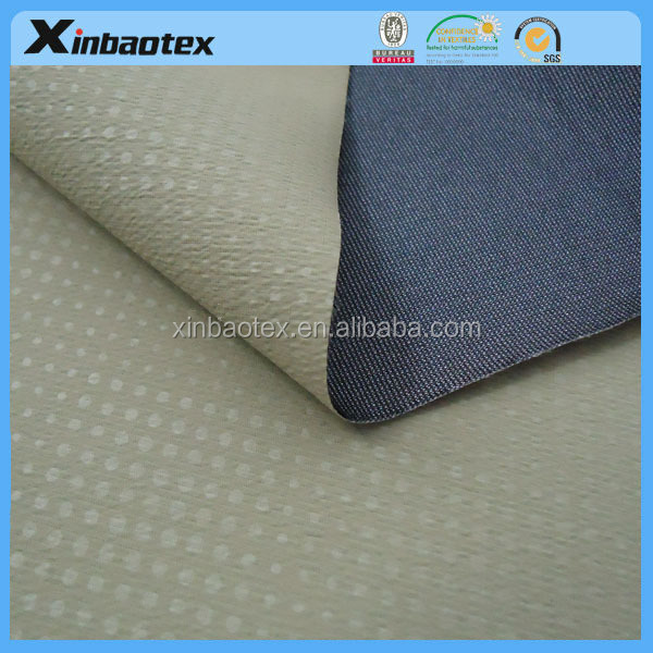 new producte waterproof and breathable Emboss Pongee laminated with tricot