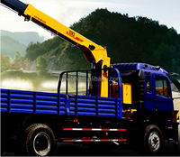 XCMG 5ton truck mounted crane with Dongfeng 4x2 truck chassis