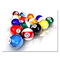 Snooker Ball Picture Decorative Canvas Artwork/Fancy Sports Canvas Painting/Wholesale Custom-made Canvas Printed Pictures