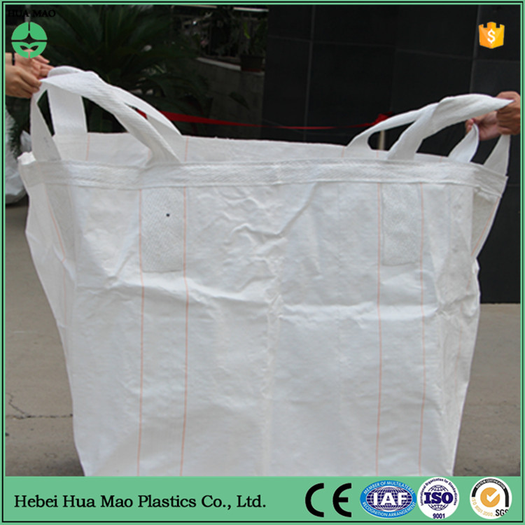 Full Open Top Flat Bottom 100% Virgin Polypropylene Jumbo Bag 1000kg Big Air Bag For Metal Powder Packing