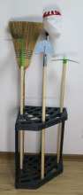 Garden corner tool hanging rack holder cabinet