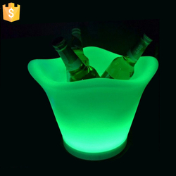 Rechargeable PE material not Acrylic led ice bucket party cooler