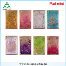 For iPad Mini Glitter Quicksand PC Case Transparent PC Case For iPad Mini