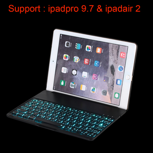 Bluetooth keyboard case aluminum alloy case for iPad Pro 9.7 and ipadair 2