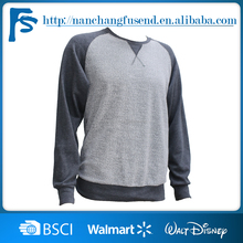 2016 retail comfortable high quality best price o neck cotton blank two-color long sleeve t-shirt