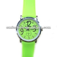 Fashion silicone wristband japan move quartz watch many colors are available