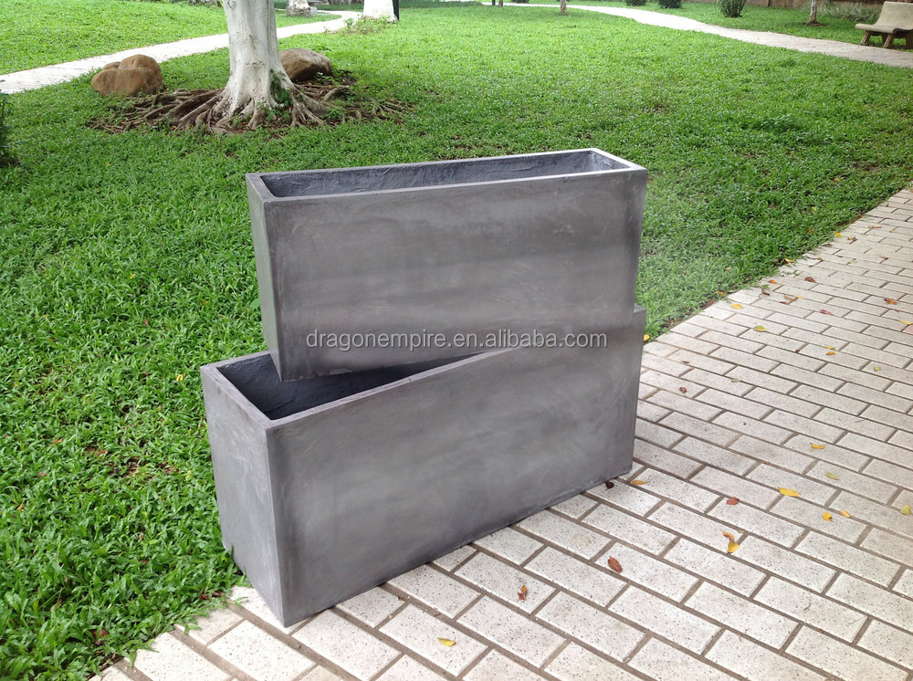 hot sale large square outdoor garden planter box garden planters