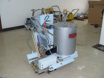 Road sweeping machine used thermoplastic road marking machine