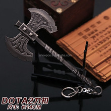 Dota 2 Axe Key Chain Gun Color Wholesale New Anime Game Dota 2 Key Chain