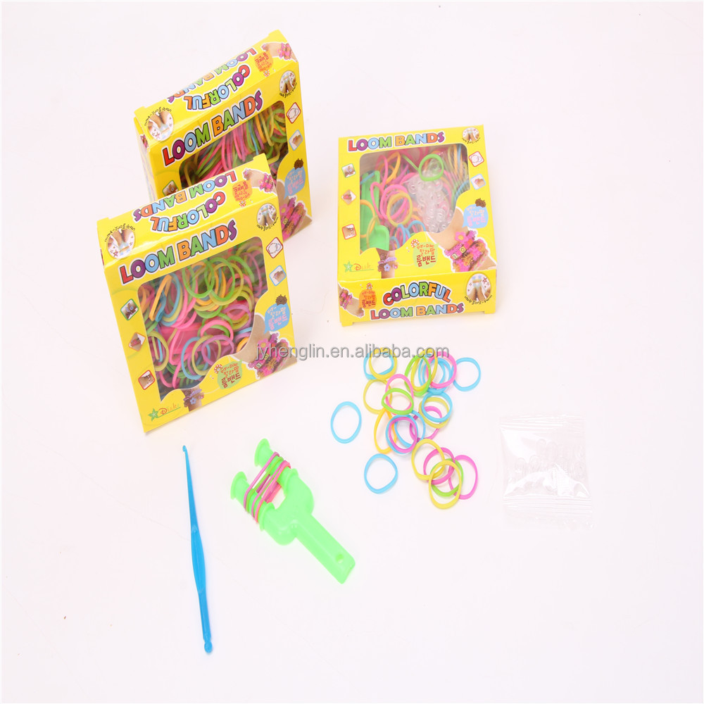Girls Favorite Decorative Hand Bracelet Mini Colored Elastic Fun Loom Rubber Band