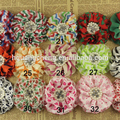 satin flower cotton eyelet lace trim with hairband pearl and color chart