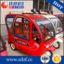 3 wheel enclosed water proof electric motors electric utility vehicle