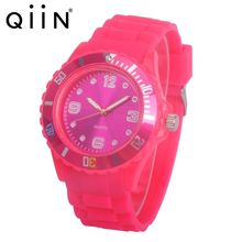 Custom Your Own Logo 13 Colors Fashion Silicone Quartz Watch