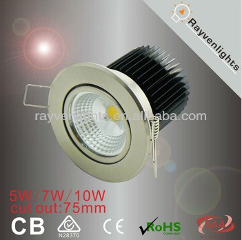 SAA CE ROHS RCM 10w led downlight components round