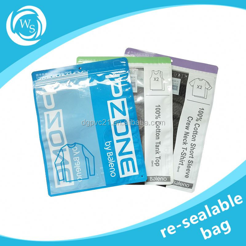 transparent&resealable three side seal bag for food packaging/cookie packing