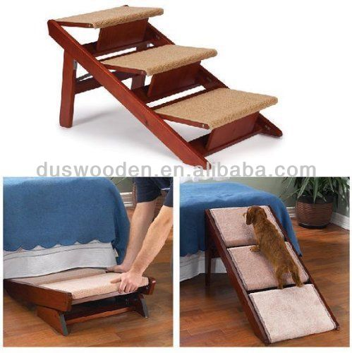 2014 HOT Cat Dog Stairs 3 Wooden Folding Puppy Furniture