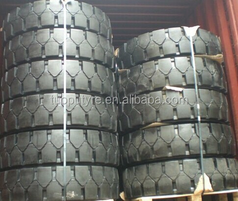 China brand off road tire solid type 23.5-25 wheel loader application