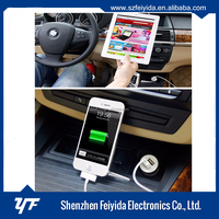 Promotional Micro Portable Dual Usb wireless Car Charger adapter & 12v car battery charger