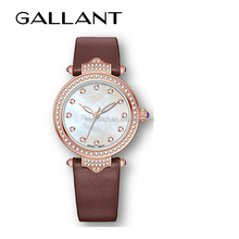 lady watch leather strap japan movt diamond quartz watch wrist watch women