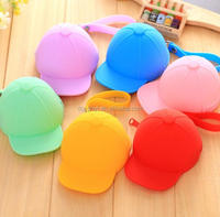 Promotional gifts customized logo hat shaped kids purses design hand purse
