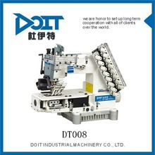 DT008-08064P 8 needle half cylinder type tape attaching multi needle sewing machine