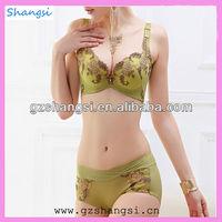 Ladies sexy fancy bra panty set from China