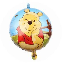 Fashion graphic designing winnie tigger cartoon roles foil helium balloon for wedding giveaways